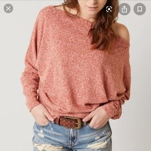 Free People Valencia Off the Shoulder Pullover Top